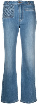 See by Chloe Straight-Leg Cropped Jeans