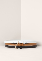 Missguided Tan Black & White Three Pack Belts