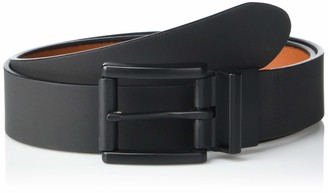 Steve Madden Men's Reversible Leather Belt with Roller Buckle