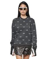Kenzo Eye Printed Cotton Fleece Sweatshirt