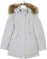 Woolrich Kids racoon fur hooded jacket