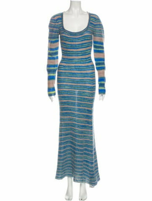 Jacquemus Striped Long Dress w/ Tags Blue