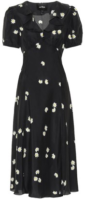Marc Jacobs The Love floral silk midi dress