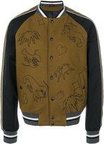 Lanvin scorpion patch bomber jacket - men - Cotton/Polyester/Polyurethane/Virgin Wool - 46