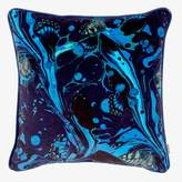 Matthew Williamson Marble Butterfly Pillow Electric Blue