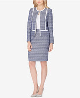 Tahari ASL Printed Open-Front Skirt Suit