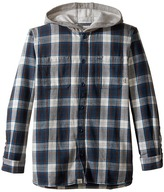 Vans Kids Lopes Long Sleeve Shirt with Hood (Big Kids)