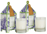 Seda France Lavande Provencale Mini Pagoda Candles (2 OZ) (Set of 2)