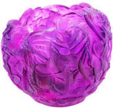 Daum Bouquet Vase, Red/Purple
