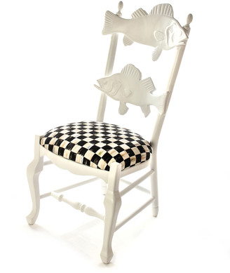Mackenzie Childs Outdoor Courtly Check Fish Chair