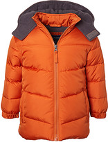Cherokee Boys' Puffer Coats ORANGE - Orange Quilted Heavy Puffer Coat - Toddler & Boys