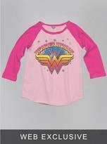 Junk Food Clothing Kids Girls Wonder Woman Raglan-pa/fl-m