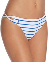 Polo Ralph Lauren French Stripe Laced Side Hipster Bikini Bottom