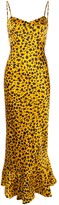 Saloni animal print flared dress