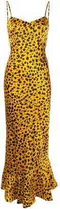 Saloni Animal Print Flared Dress