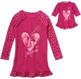 Girls 4-16 SO® Long-Sleeved Raglan Sleeping Puppy Nightgown & Doll Dress Set