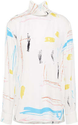 Cédric Charlier Printed Crepe Blouse