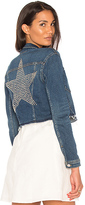 L'Agence Zuma Cropped Jacket With Studded Star.