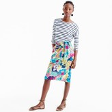 J.Crew Tie-waist skirt in seaside floral