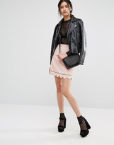 Oasis Scallop Hem Skirt