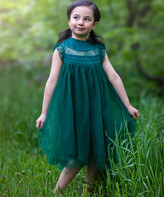 Couture Just Girls' Special Occasion Dresses - Dark Green Magnolia Dress - Toddler & Girls