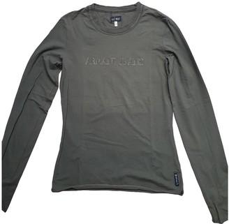 Armani Jeans Khaki Cotton Top for Women