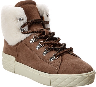 Marc Fisher Davie Waterproof Suede Sneaker Bootie