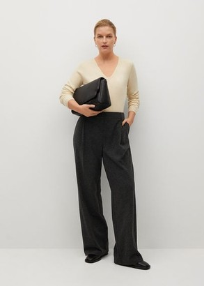 MANGO Flared knitted trousers