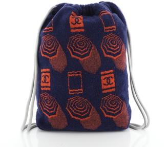 Chanel Drawstring Backpack Terry Cloth Medium