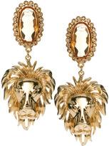 Asos Regal Lion Drop Earrings