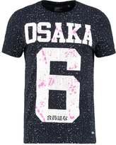 Superdry Osaka Splatter Print Tshirt Eclipse Navy