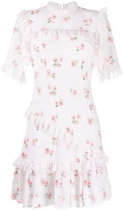 Needle & Thread Dessert Rose Mini Dress