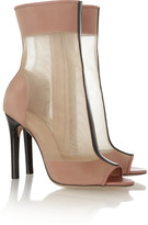 Reed Krakoff Open-toe leather and mesh boots