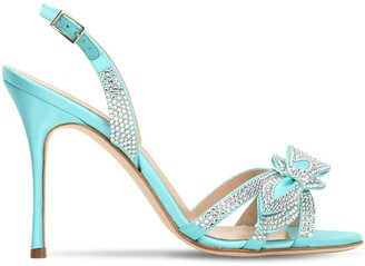 Alessandra Rich 105mm Embellished Satin Sandals