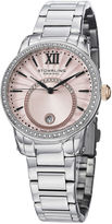 Stuhrling Original Sthrling Original Womens Crystal-Accent Pink Dial Bracelet Watch