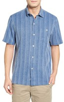 Tommy Bahama Men's Big & Tall Zaldera Stripe Silk Camp Shirt