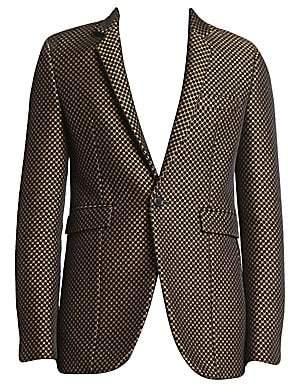 Saint Laurent Men's Long Velvet Jacquard Sport Jacket