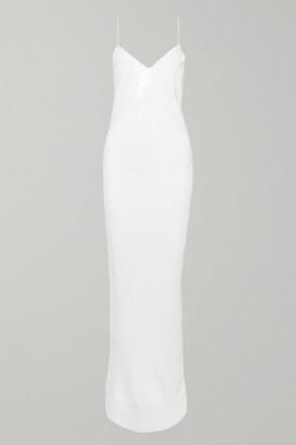 Stella McCartney Sequined Silk-chiffon Gown - White