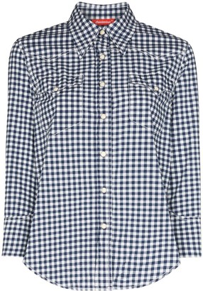 Denimist Shrunken Cowboy gingham print shirt