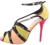 Christian Dior Multicolor Cage Sandals