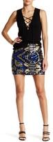 Romeo & Juliet Couture Geometric Sequined Mini Skirt