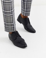 New Look faux leather formal brogue in black