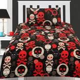 Happy Kids Skull Glow in the Dark Comforter Set