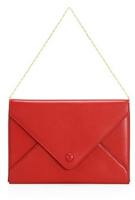 The Row Leather Envelope Clutch