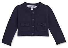 Pippa & Julie Girls' Bow-Pocket Cotton Cardigan - Little Kid