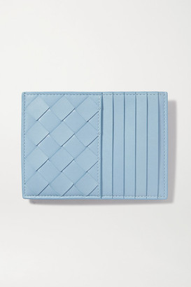 Bottega Veneta Intrecciato Leather Cardholder - Light blue