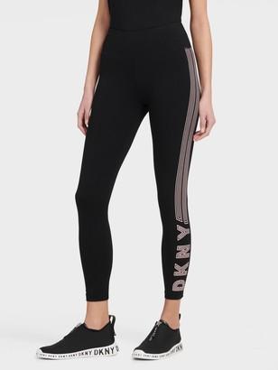 DKNY High Waist Legging With Track Logo