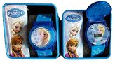 Disney Kids' Frozen Anna and Elsa Blue Flashing Watch with Plastic Band (One ...