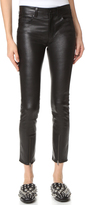 Helmut Lang Zip Leather Pants