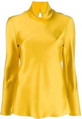 Maison Rabih Kayrouz Funnel-Neck Fitted Top